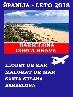 Španija letovanje 2018, Španija letovanje _Kosta Brava,Španija letovanje _Barselona, Španija avionom 2018, Ljoret de mar hoteli, Španija hoteli sa 3*, Španija avionom hoteli na plazi, Španija hoteli sa 4* avionom