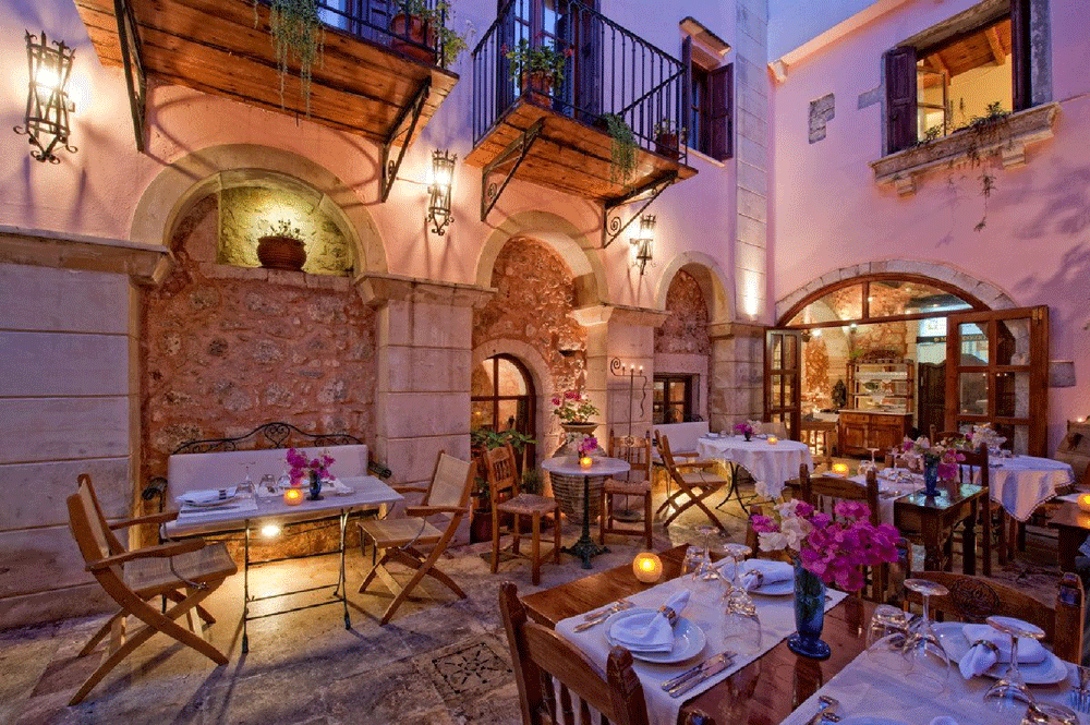 retimno Krit leto 2021 avionom - hoteli i aprtmani - Otmeni restoran Avli - direktan čarter let Fibula Air Travel - fibula.rs